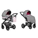 Детская коляска 2 в 1 Tutis Zippy 2020 цвет 162 Raspberry серый и малиновый