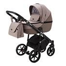 Детская коляска Adamex Bibione 2 в 1 цвет BI-PS15 бежевый и темно-бежевая экокожа