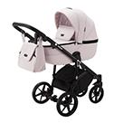 Детская коляска Adamex Bibione 2 в 1 цвет BI-PS26 светло-розовый и светло-розовая экокожа