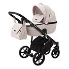 Детская коляска Adamex Bibione 2 в 1 цвет BI-PS33 светло-бежевый и светло-бежевая экокожа