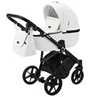 Детская коляска Adamex Bibione Deluxe 2 в 1 цвет BI-SA1 белая экокожа