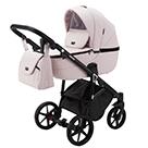 Детская коляска Adamex Bibione Deluxe 2 в 1 цвет BI-SD4 светло-розовая экокожа