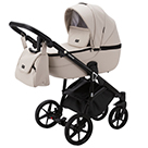 Детская коляска Adamex Bibione Deluxe 2 в 1 цвет BI-SA7 светло-бежевая экокожа