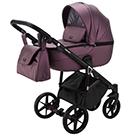 Детская коляска Adamex Bibione Deluxe 2 в 1 цвет BI-SM8 темно-сиреневая экокожа