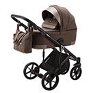 Детская коляска Adamex Marco 3 в 1 цвет GA10 шоколад и шоколадная кожа