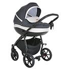 Детская коляска 2 в 1 Tutis Nanni 2021 цвет 020 графит и светло-серая кожа