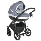 Детская коляска 2 в 1 Tutis Nanni 2021 цвет 021 серый и кожа серебро