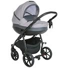 Детская коляска 2 в 1 Tutis Nanni 2021 цвет 022 серый и темно-серая кожа