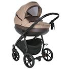 Детская коляска 2 в 1 Tutis Nanni 2021 цвет 023 капучино и тёмно-коричневая кожа