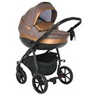Детская коляска 2 в 1 Tutis Nanni 2021 цвет 024 кофе и кожа бронза