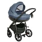 Детская коляска 2 в 1 Tutis Nanni 2021 цвет 027 деним и синяя кожа