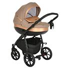 Детская коляска 2 в 1 Tutis Nanni 2021 цвет 048 песочный и кожа gold