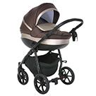Детская коляска 2 в 1 Tutis Nanni 2021 цвет 278 темный шоколад и кожа капучино металлик