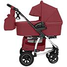 Детская коляска 2 в 1 Carrello Vista Air CRL-6506 цвет Ruby Red рубиновый красный