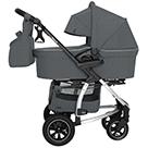 Детская коляска 2 в 1 Carrello Vista Air CRL-6506 цвет Steel Grey серая сталь