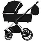 Детская коляска Carrello Optima 2 в 1 CRL-6503 цвет Leather Black черный