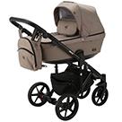 Детская коляска Adamex Emilio 2 в 1 цвет EM-232 бежевый и бежевая экокожа
