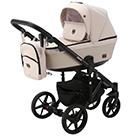 Детская коляска Adamex Emilio 2 в 1 цвет EM-243 бежевый и бежевая экокожа
