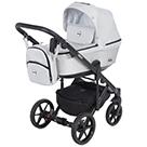 Детская коляска Adamex Emilio 2 в 1 цвет EM-268 серый и серый металлик экокожа