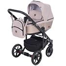 Детская коляска Adamex Emilio 2 в 1 цвет EM-276 бежевый и бронзовая экокожа