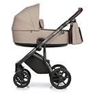 Детская коляска Roan Bass Next 2 в 1 цвет Beige бежевый, темно-коричневая ручка