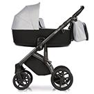 Детская коляска Roan Bass Next 2 в 1 цвет Chrome Shade хромированный, черная ручка