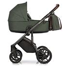 Детская коляска Roan Bass Next 2 в 1 цвет Night Green тёмно-зеленый, темно-коричневая ручка