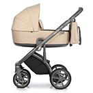 Детская коляска Roan Bass Next 2 в 1 цвет Nougat нуга, серая ручка