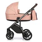 Детская коляска Roan Bass Next 2 в 1 цвет Rosy Mood розовый, темно-коричневая ручка