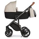 Детская коляска Roan Bass Next 2 в 1 цвет Sand Shade песочный, коричневая ручка