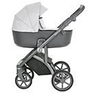 Детская коляска Roan Bass Next 2 в 1 цвет Silver Mountain серебряный, серая ручка