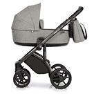 Детская коляска Roan Bass Next 2 в 1 цвет Titanium титановый, черная ручка