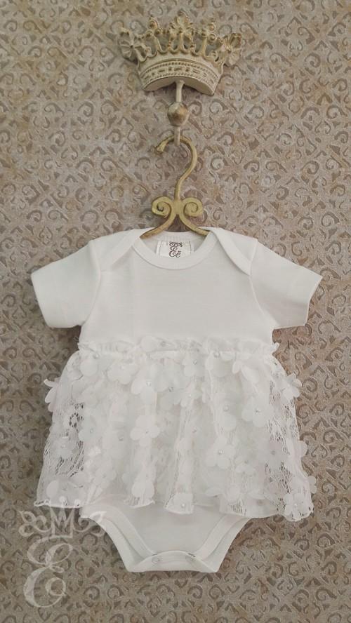 152ebdd949db Платье боди для девочки с юбочкой из объёмных цветочков