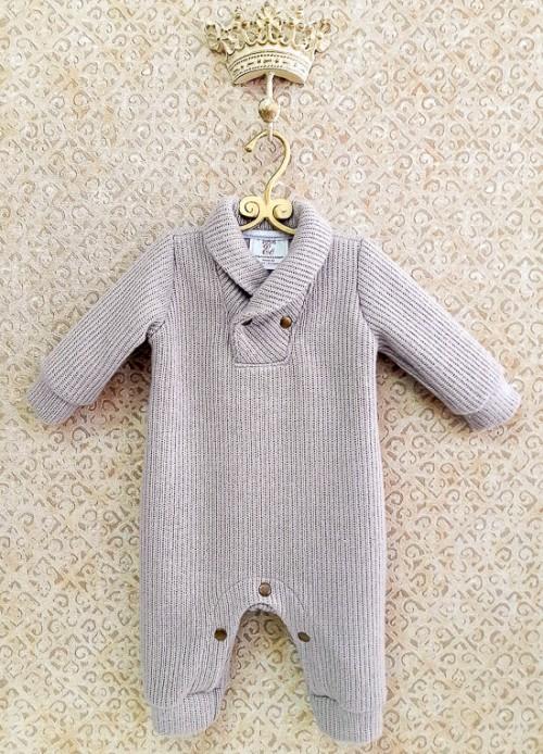 вязаный комбинезон для новорожденного или малыша купить в интернет