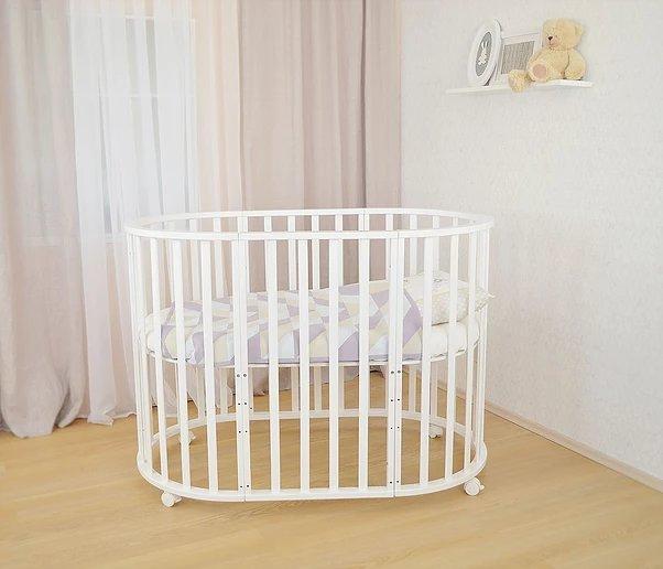 Детская овальная кроватка-трансформер СКВ-10 3 в 1 купить в интернет ... 299d3fd46e5